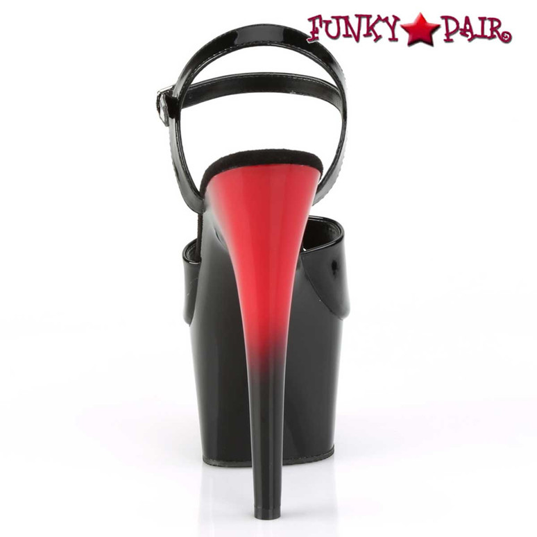 Pleaser   Adore-709BR, Ankle Strap Sandal with 2 Tone Platform Back View