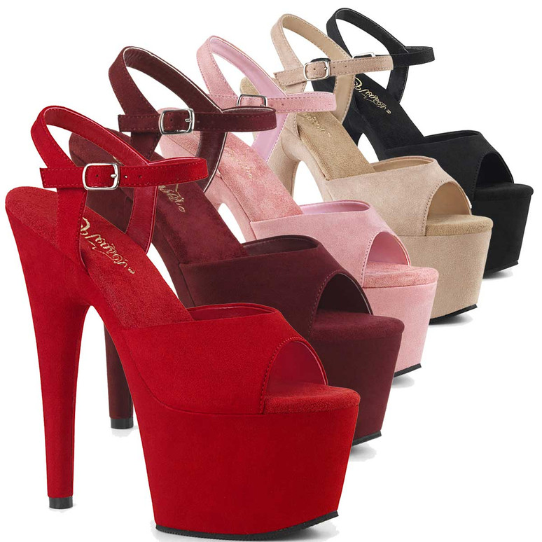 Adore-709FS, Suede Pole Dancer Shoes by Pleaser
