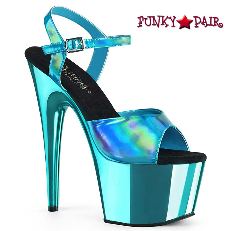 Pleaser Adore-709HGCH Turquoise Chrome