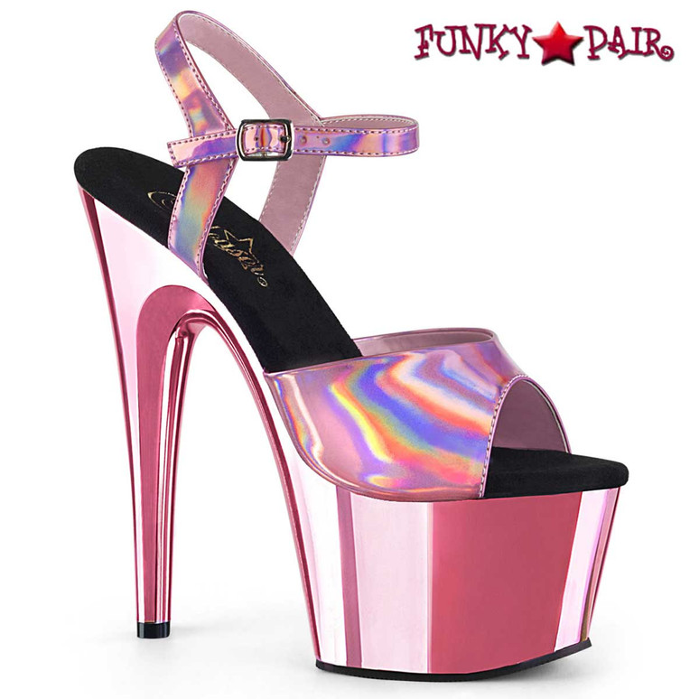 Adore-709HGCH Baby Pink Chrome by Pleaser