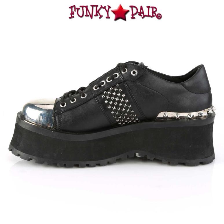 Men's Demonia Gravedigger-02, Punk Goth Oxford Shoes inner side view