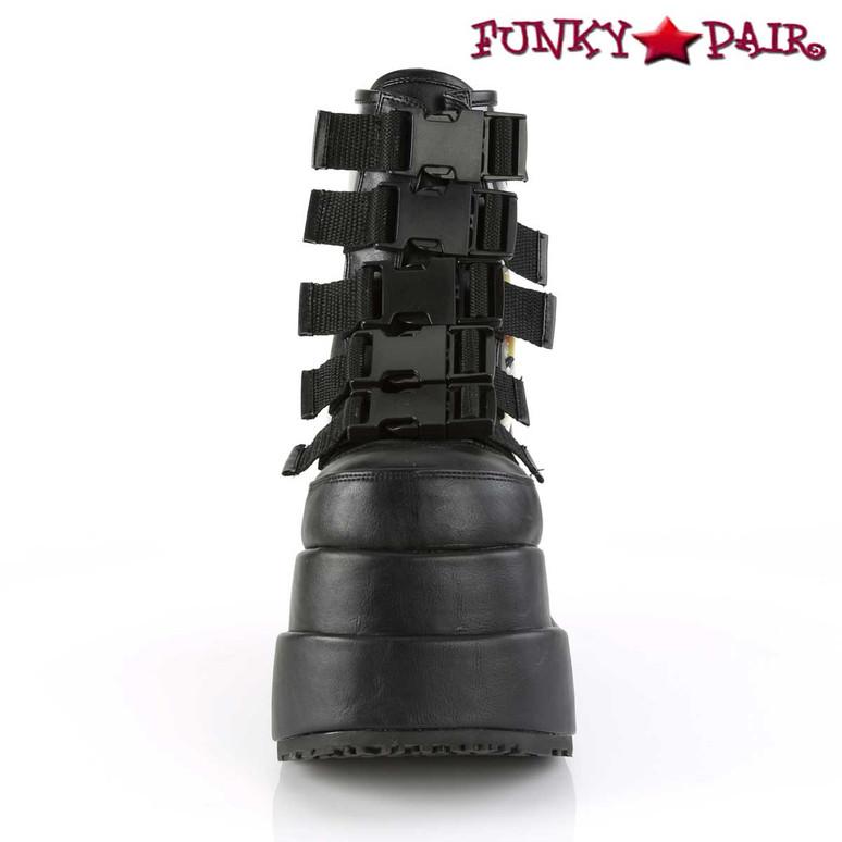 Bear-105, Spider Platform Ankle Boots Women Demonia front view