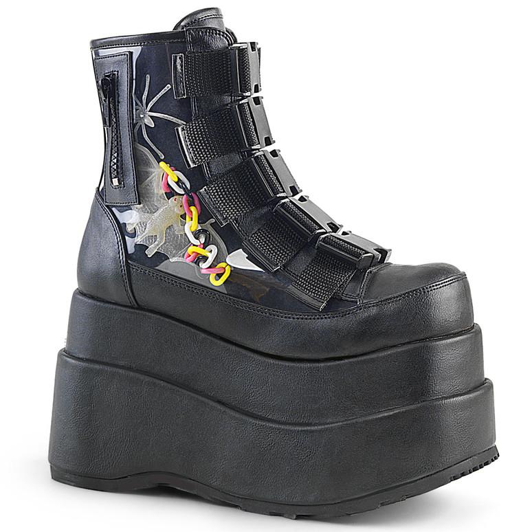 Bear-105, Spider Platform Ankle Boots Women Demonia