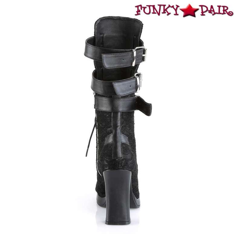 Crypto-61, Open Calf Boots Women's Demonia back view