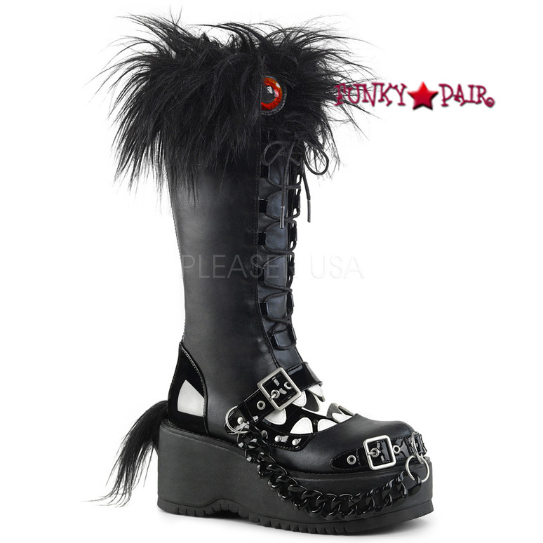 Dolly-130, 3.25 Inch Platform Monster Knee High Boots