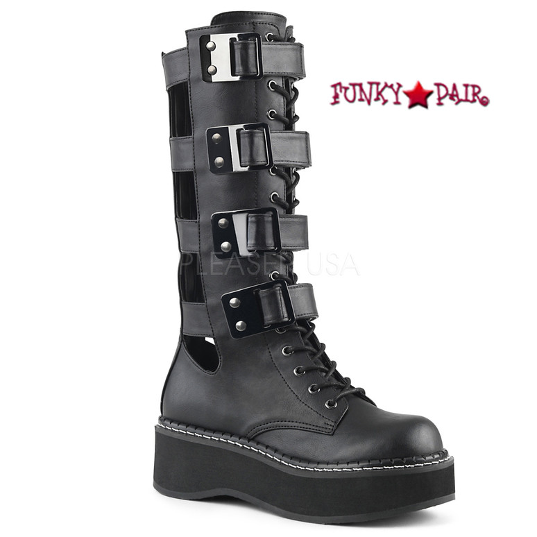 Demonia 2 Inch Platform Knee High Boots Emily-359,