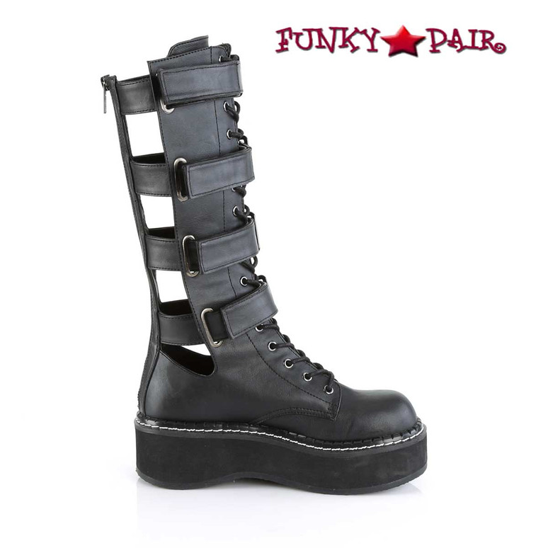 Demonia Emily-359, Platform Knee High Boots inner side view