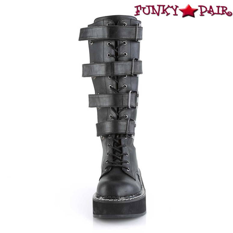 Women's Demonia Emily-359, Platform Knee High Boots front view