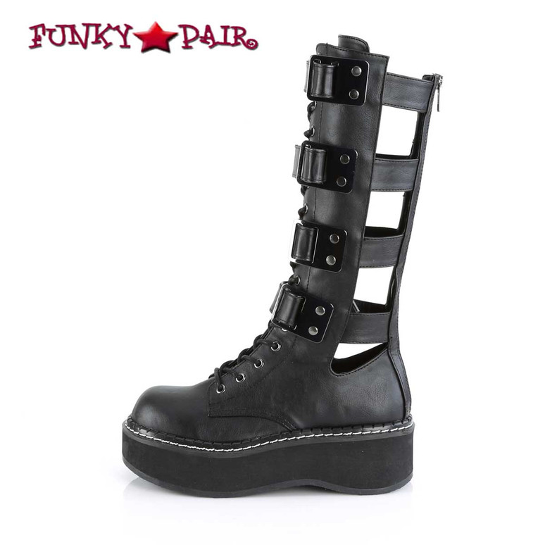 Women's Demonia Emily-359, Platform Knee High Boots side view