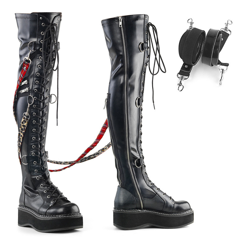 Women's Punk Over-the-Knee Boots by Demonia Emily-377