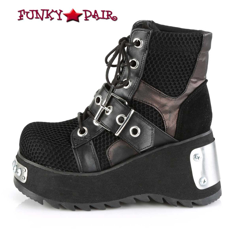 Demonia Scene-53, Punk Ankle Boots side view