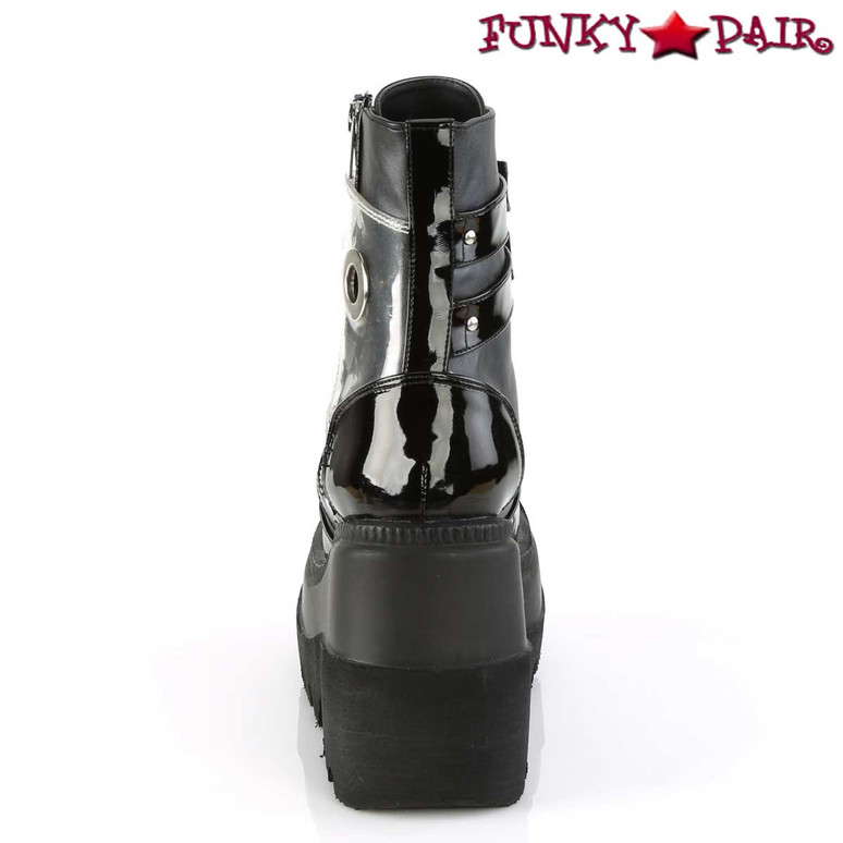 Women's Demonia Shaker-57, Wedge Ankle Boots Back view
