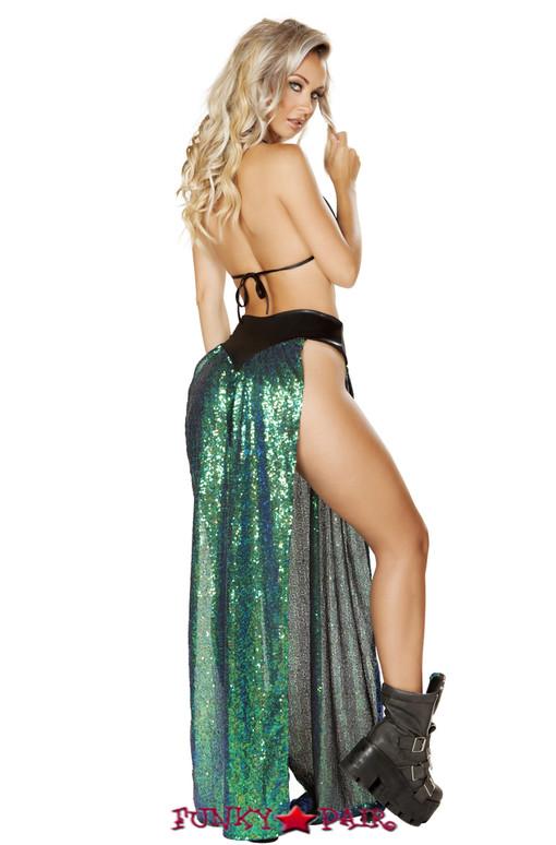 R-3595, Double Panel Sequin Skirt