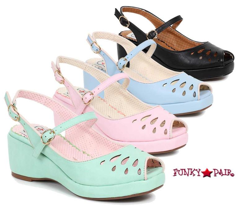 BP242-Faye, 2 Inch Peep Toe Wedge | FunkyPair