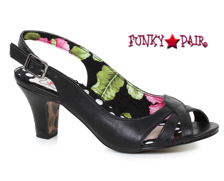 Black BP250-Cara, 2 Inch Peep Toe Sling Back Sandal