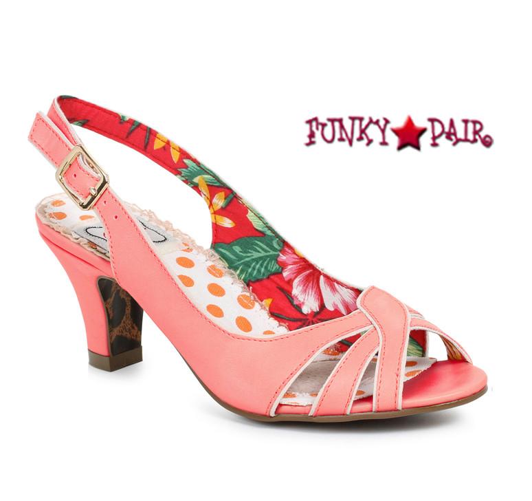 Pink BP250-Cara, 2 Inch Peep Toe Sling Back Sandal