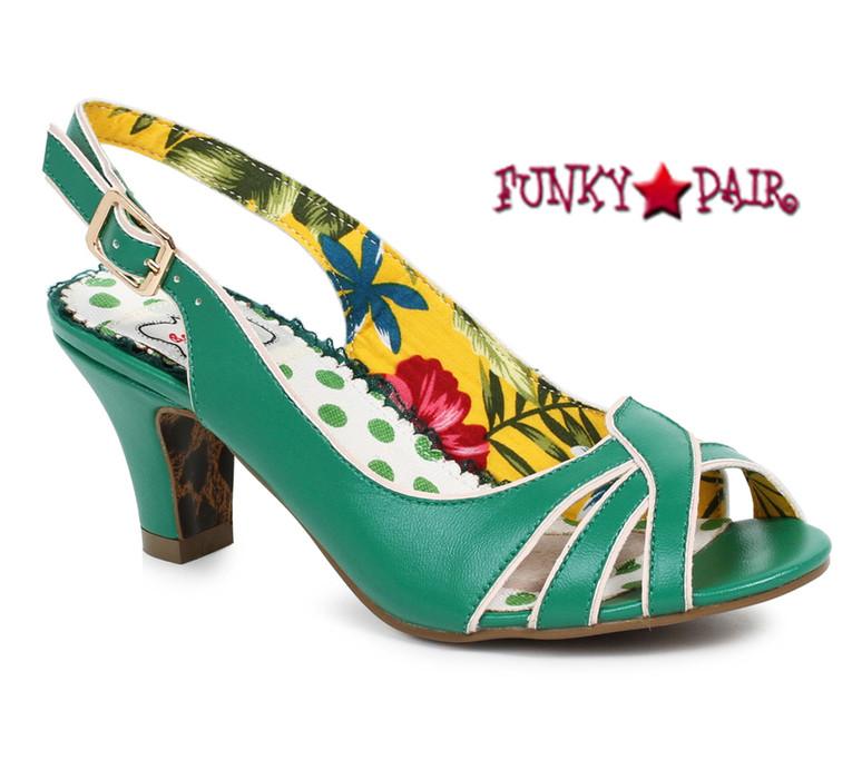 Green BP250-Cara, 2 Inch Peep Toe Sling Back Sandal