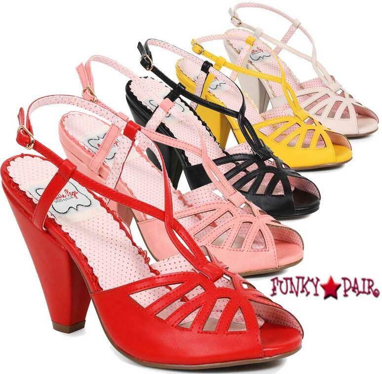BP403-Aria, 4 Inch Chunky Heel Keyhole Ankle Strap Sandal