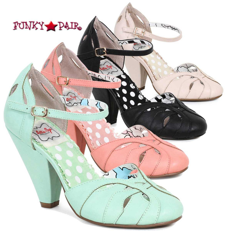 BP403-Sally, 4 Inch Chunky Heel Ankle Strap Sandal | FunkyPair.com