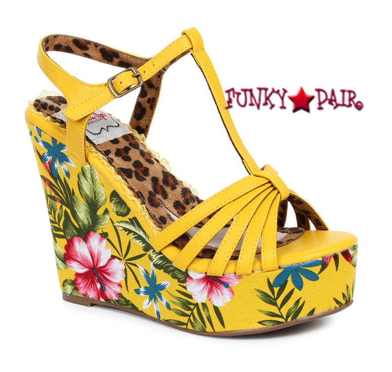 BP475-Mallory, 4 Inch Tiki Wedge color yellow