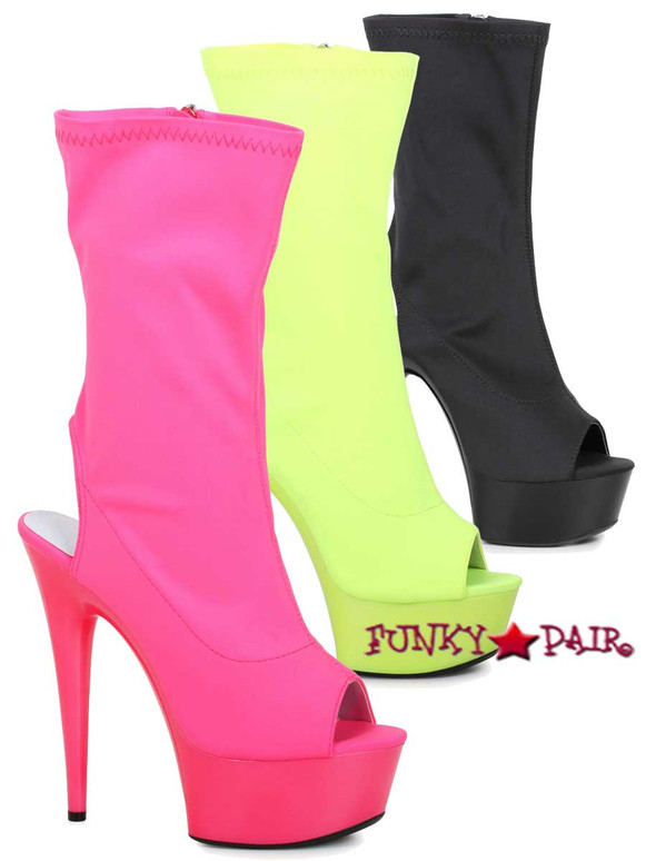 Ellie shoes | 609-Stacy, 6 Inch Open Toe/Back Mid-Calf Boots