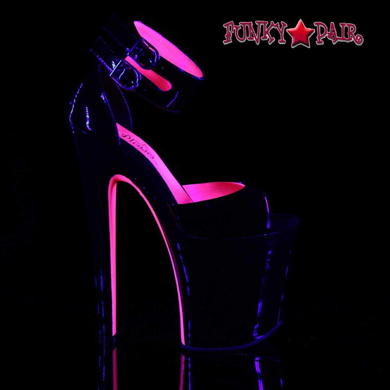 "Pleaser Xtreme-875TT, 8"" D'Orsay Stripper Sandal with Two-Tone"