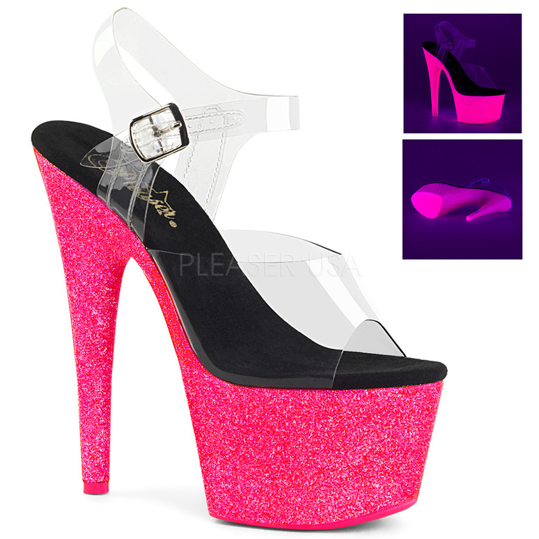 Pleaser | Glitter POLE Dancing Shoes (Adore-708UVGNP)