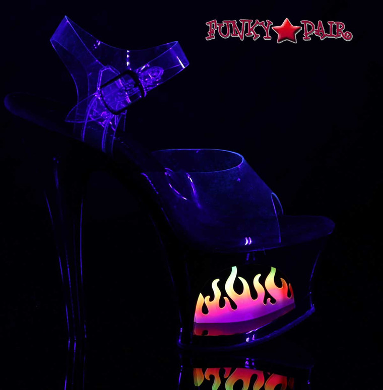 Hot Flame Exotic Dancer Shoes | Pleaser  Moon-708FLM