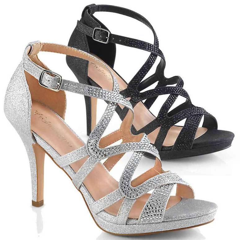"Fabulicious   Daphne-42, 4"" Heel Strappy Dress Sandal"