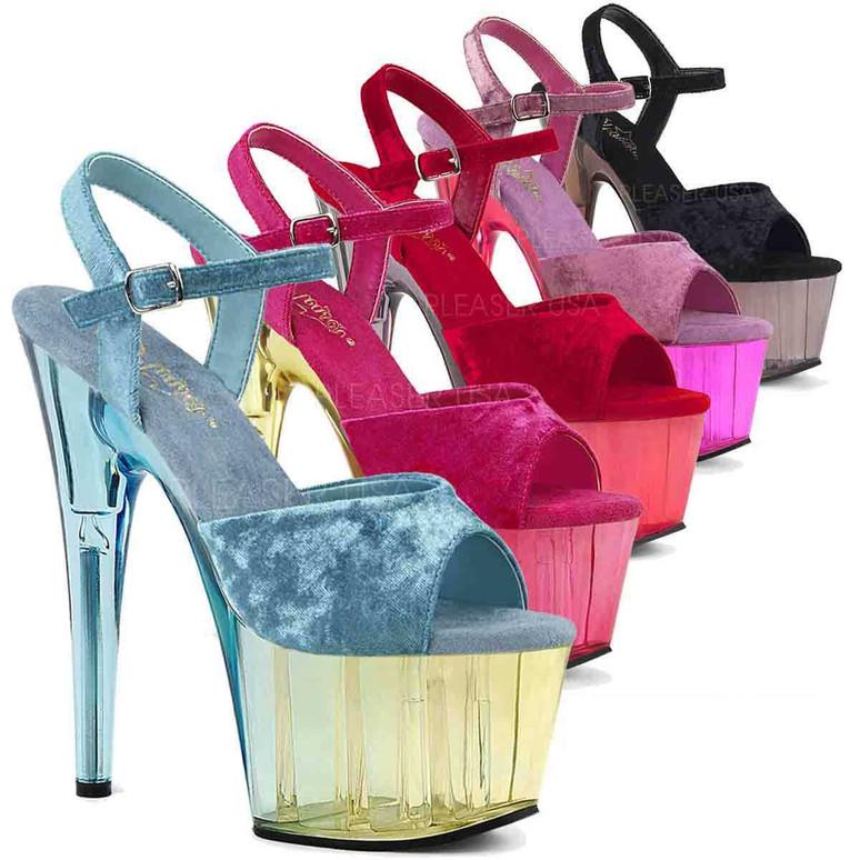 Pleaser | Adore-709MCT, Platform Ankle Strap Sandal