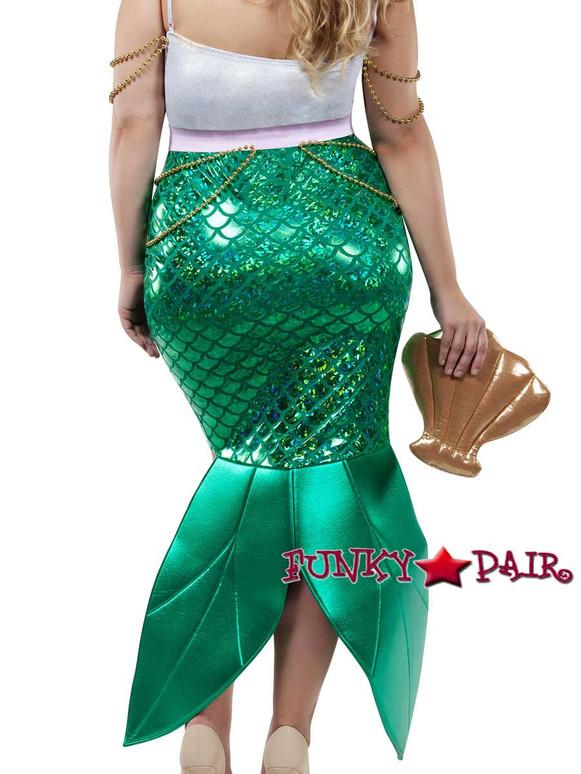Starline Costume | S8022X, Plus Size Alluring Sea Siren Back View