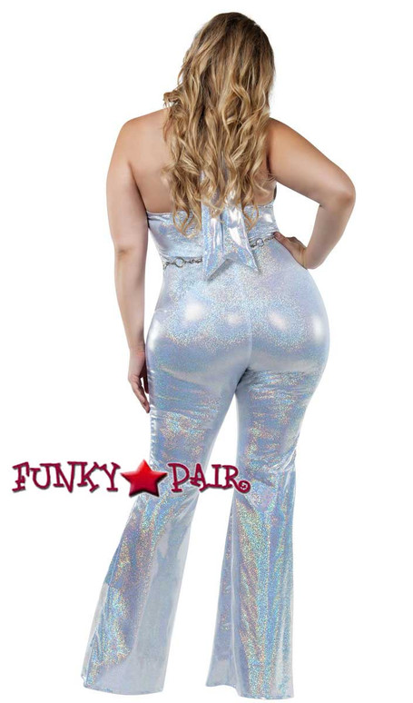 Starline Costume | S8032X, Plus Size Disco Honey Back Full View