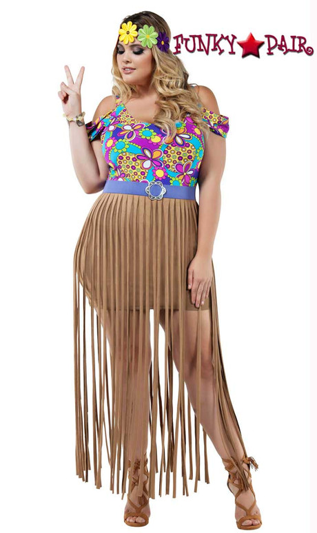 Starline Costume | S8023X, Plus Size Hippy Girl Full View