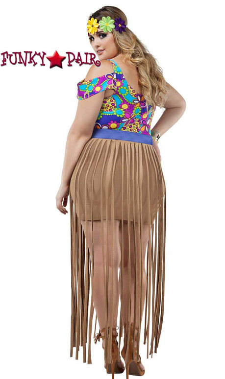 Starline Costume | S8023X, Plus Size Hippy Girl Back Full View