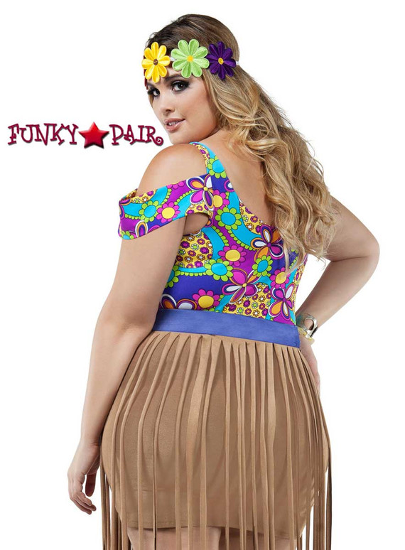 Starline Costume | S8023X, Plus Size Hippy Girl Back View