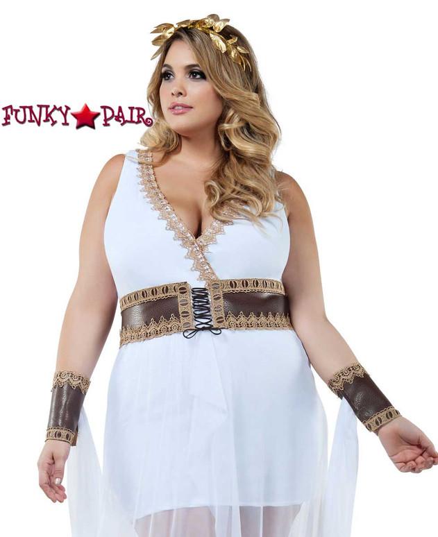 Starline Costume | S8024X, Plus Size Golden Goddess Close Up View