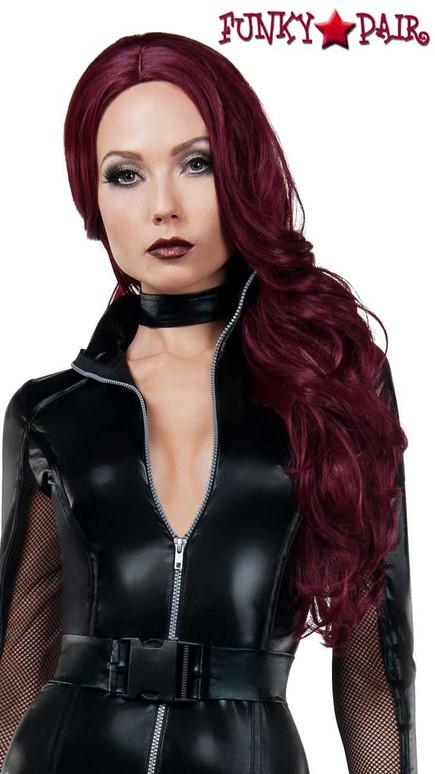 Starline Costume   W8018, Black Widow Wig
