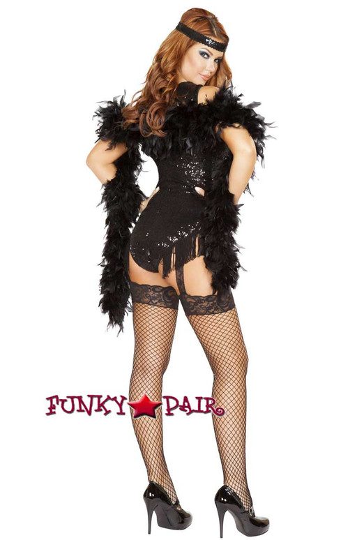 Roma | R-4748, 1920'S Party Flapper Romper Costume  full back view