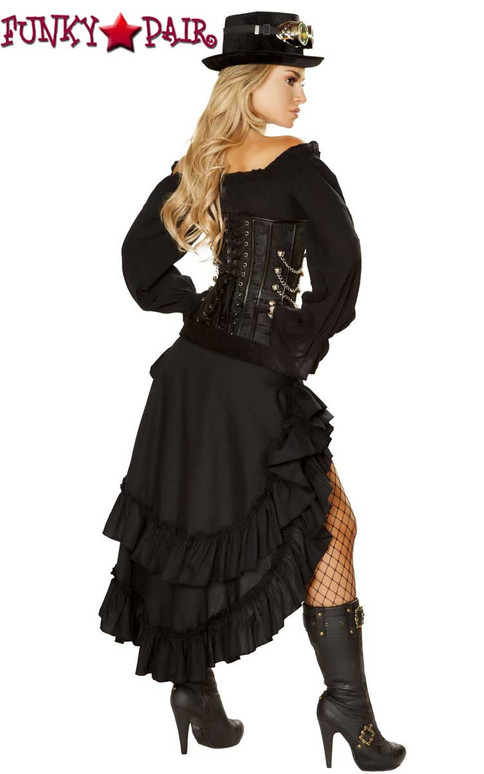 Roma Costume | R-4856, Victorian Steam Maiden full back view