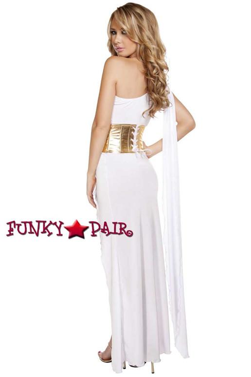 Roma Costume | R-4619, Grecian Goddess Babe full back view