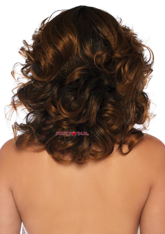 Leg Avenue | LA-2830, Brown Short Wavy Wig back view
