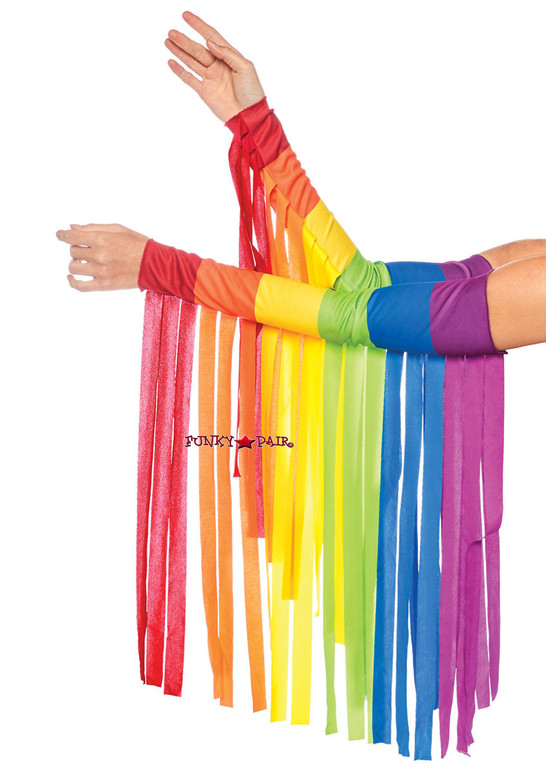 Rainbow Fringe Arm Piece   Leg Avenue LA-2827