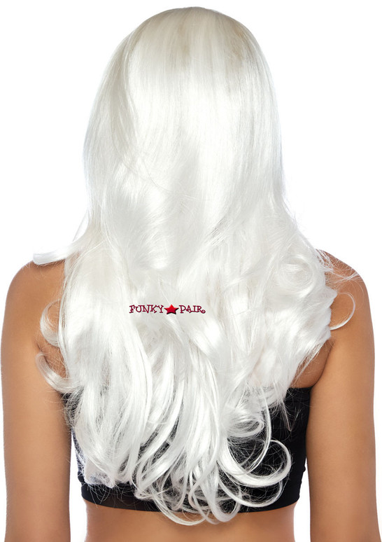 Long Wavy Wig | Leg Avenue LA-2829 white back view