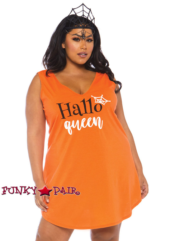 Plus Size Halloqueen Jersey Dress Costume   Leg Avenue LA-86766X