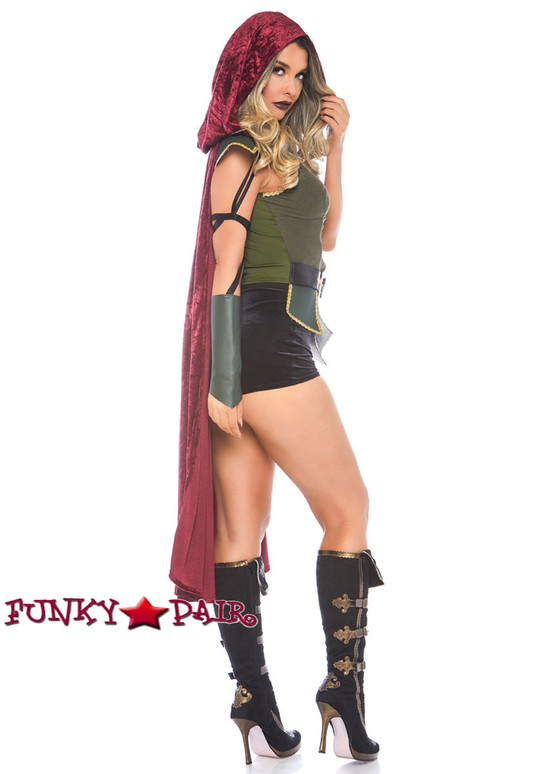 Leg Avenue | LA-86781, Ravishing Robin Hood Costume side full view