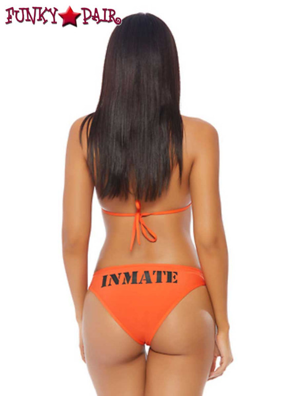 Sexy 2pc. Inmate Costume | ForPlay FP-558704 back view