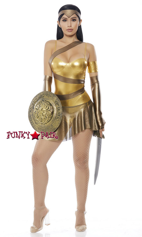 ForPlay | FP-558717, Golden Amazon Hero Costume full view