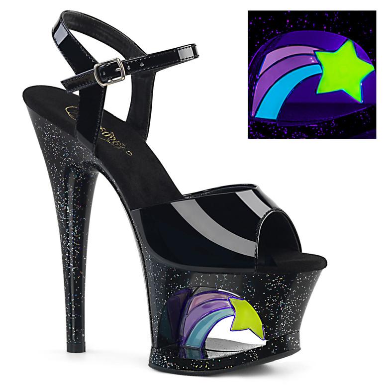 Moon-709RSS, Shooting Star Platform Ankle Strap Sandal stripper shoes