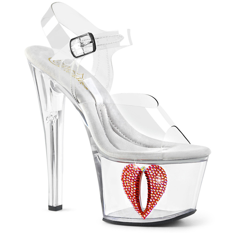 Stripper Shoes Tipjar-708-6, Platform Sandal with Base Compartment
