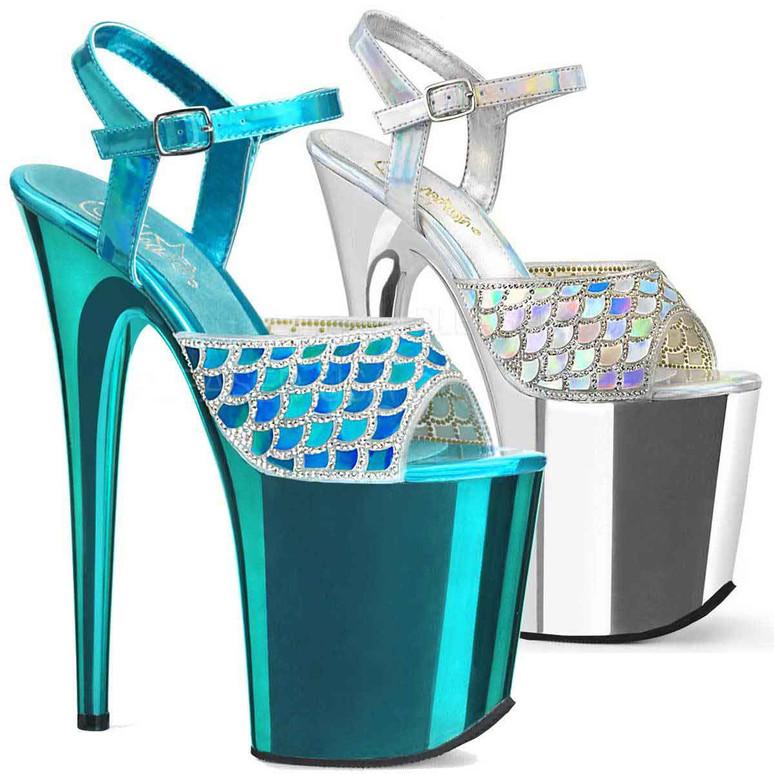 Mermaid Scale Platform Stiletto Heel   Pleaser Shoes Flamingo-809MMRS